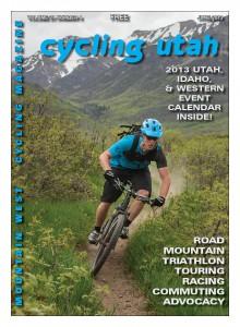 "Cover: Tyler Cloward gets loose below Mt. Timpanogos on Utah bike company Fezzari's new all-carbon ""Timp Peak"" 27.5 lb (650b) full-suspension trail bike. Photo: Photo John, flickr.com/photo-john"