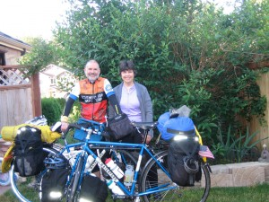 Lou and Julie Melini's bikes are fully equipped with Lone Peak packs