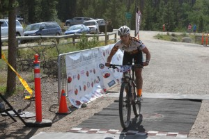 Lisa Curry won the women's Butte 100, held July 27, 2013.