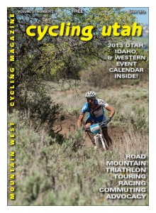 Cover: Chris Bingham (DNA Cycling) on his was to first place in the Men's 50+ category at the Wasatch Back 50 Mountain Bike Race on June 8. See results in this issue. Photo: Chris See,  fredmarx.photoshelter.com