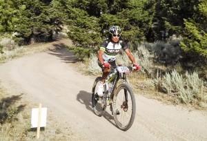 Tinker Juarez on his way to winning the 2013 Butte 100 Mountain Bike Race, held July 27, 2013 in Butte, MT.