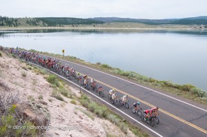 The peloton in Stage 1 of the 2013 Tour of Utah. Photo: Dave Richards, daverphoto.com