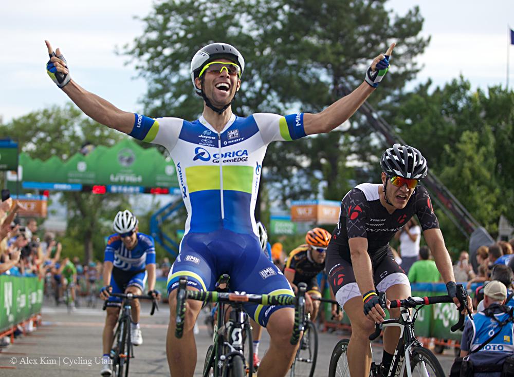 Orica GreenEDGE's Michael Matthews takes the win in stage 4 in the 2013 Tour of Utah.
