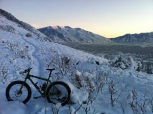The Bonneville Shoreline Trail in Utah County.