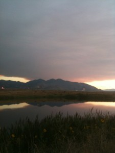 Sunset's like these can be enjoyed on the bike when one doesn't have to worry about tion.com.