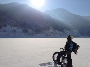 Mark Peterson at Pineview Reservoir in Ogden Valley