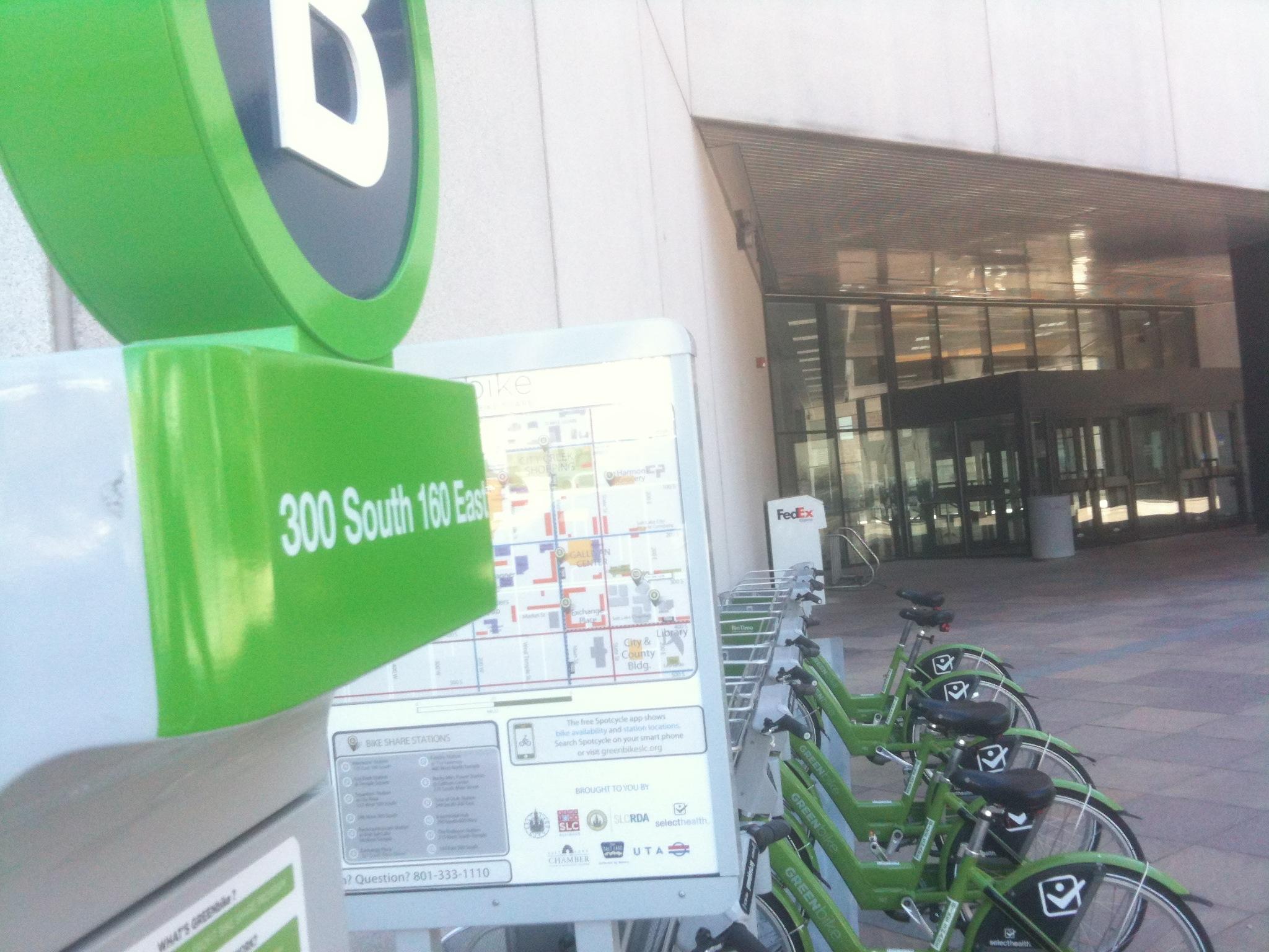 Greenbike bike share in Salt Lake City