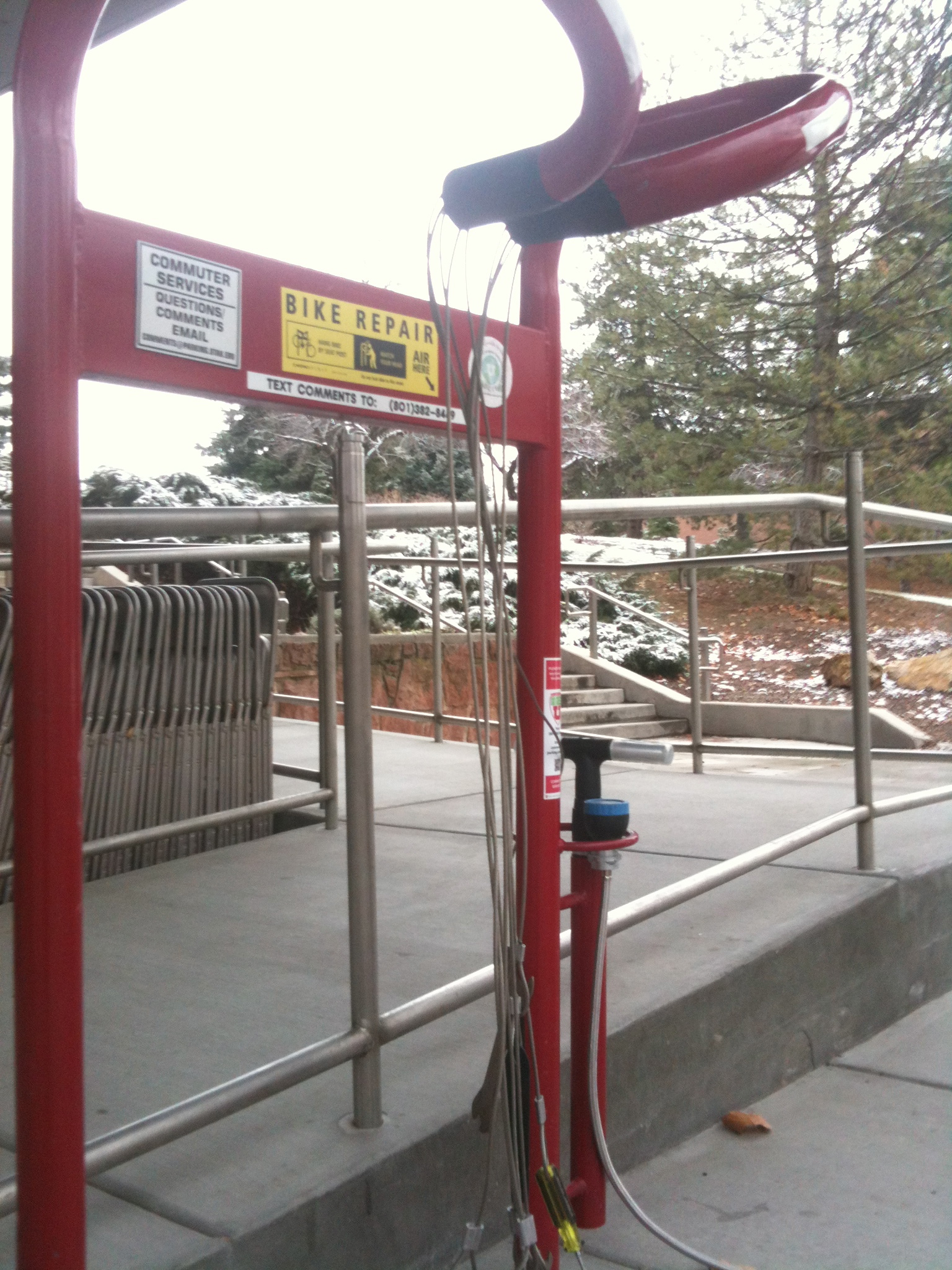 A repair station at the University of Utah. Ogden will get six new stations in spring of 2014 (not the model pictured).