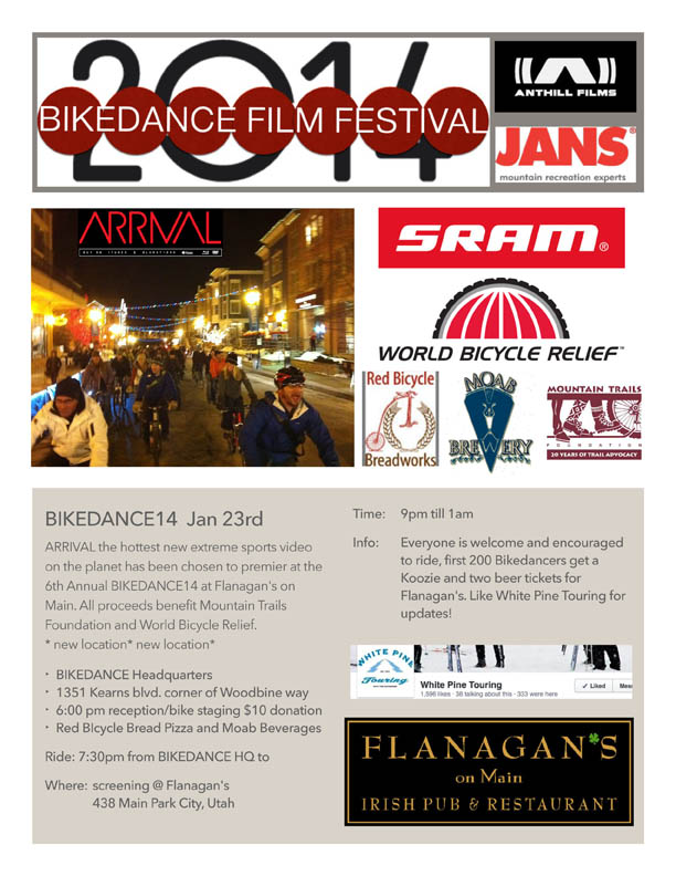 BikeDance14 Film Festival will be Held in Park City on January 23, 2014