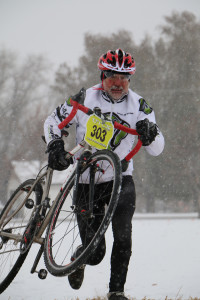 Lou testing out the Rudy Project Sterling helmet at Barnes Park in the Utah Cyclocross Series.
