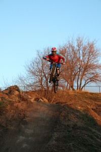 Dave at the I Street Jumps. Photo by Dave Iltis