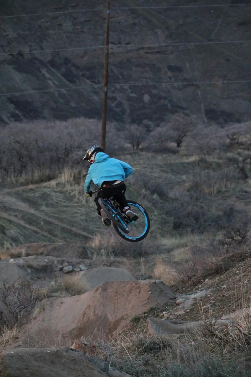Alex Milton at the I Street Jumps. Photo by Dave Iltis