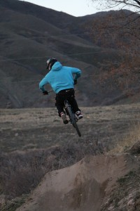 A rider at the I Street Jumps in Salt Lake City. Photo by Dave Iltis