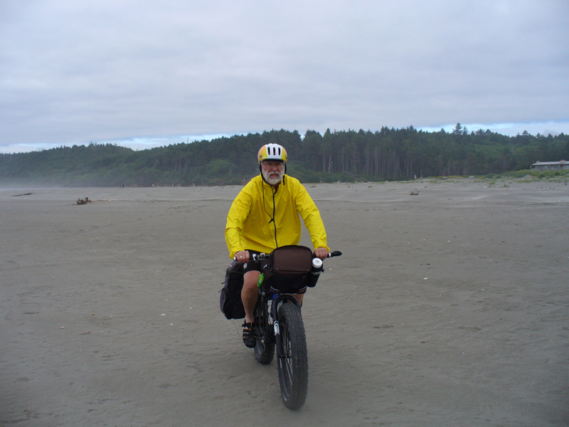Heading south on Moclips Beach.