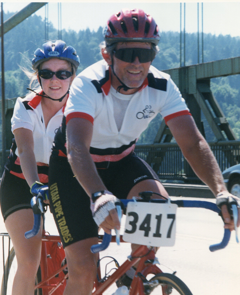 Dave Ward and daughter Rachel Ward in the Seattle to Portland