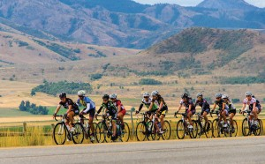 Kemille Garvin on point in the women's race in Cache Valley