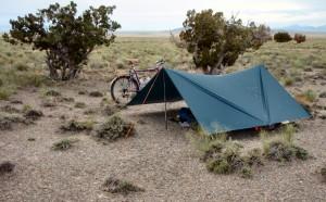 My second, slightly rainy camp, east of Montello, Nevada.