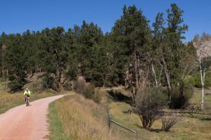 The Mickelson Trail was beautiful but the gravel felt treacherous under