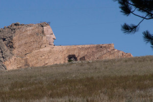 The colossal Crazy Horse statue in-the-making looms over the Mickelson
