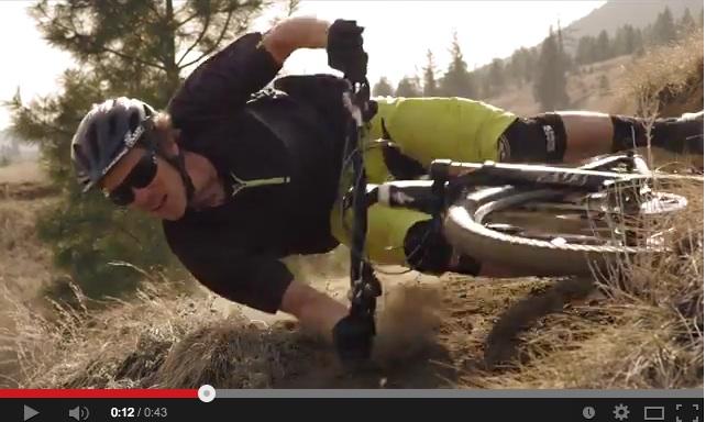 Unreal Cornering on a Mountain Bike