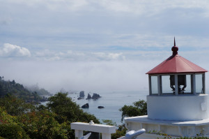 Back in the sun at the Trinidad Head Lighthouse.