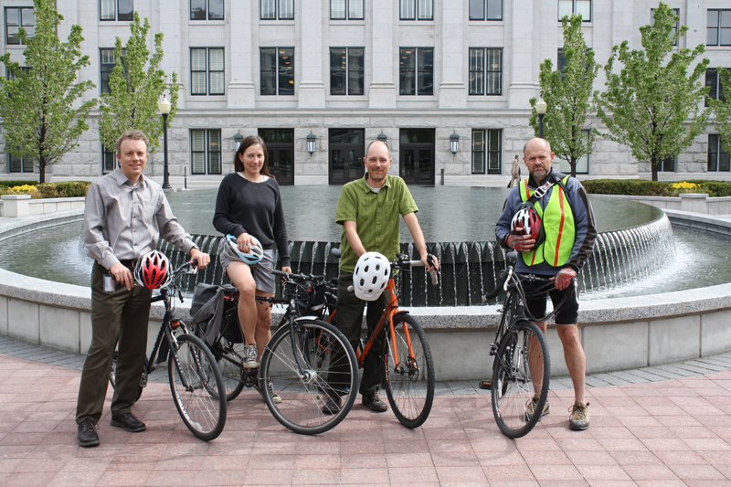 The employees of the Automated Geographic Reference Center ride more than they drive.