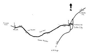 Iron Mountains Ride Map