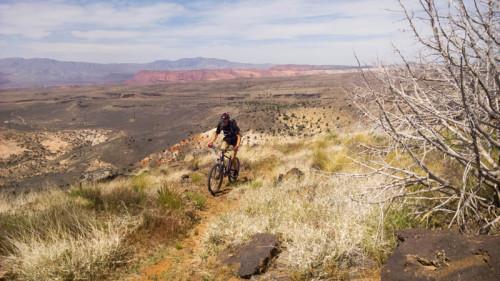 PJ on the Broken Mesa Trail. Photo: Lukas Brinkerhoff.