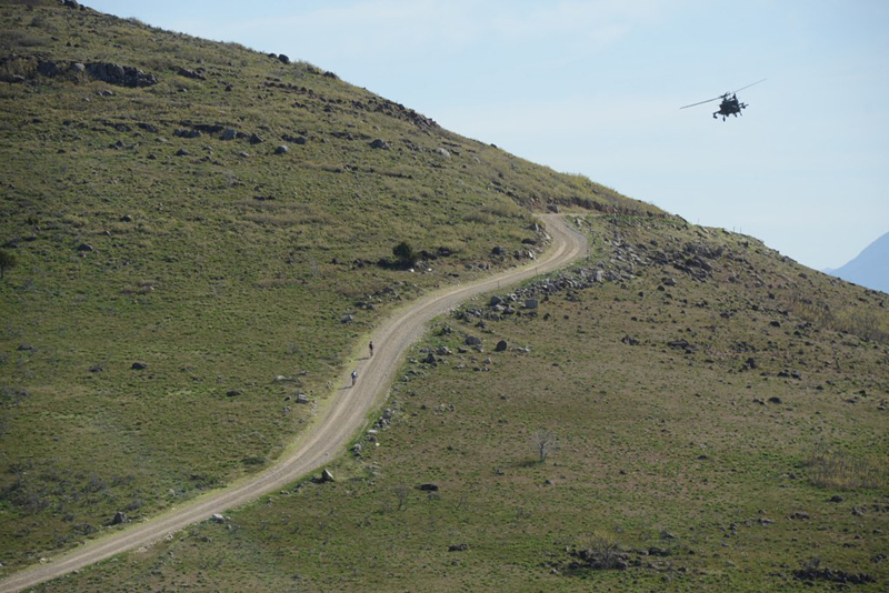 The Iron Will Race was held on closed roads of Camp Williams in Utah.