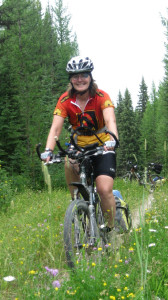 Flathead National Forest, Montana--one of the few single track trails.