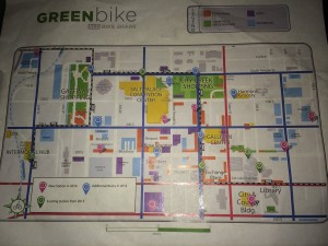 A map of the Greenbike system showing new and expanded stations.