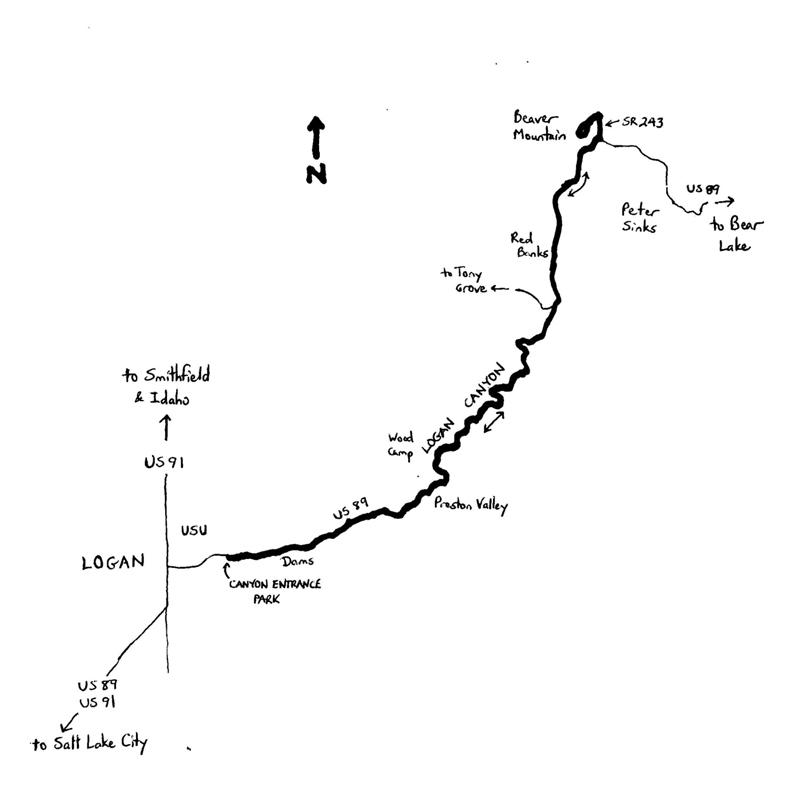Logan-Canyon-Cycling-Map