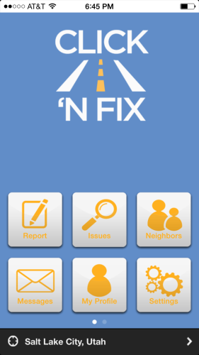 UDOT's click n fix app is good for reporting problems on state owned roads and highways.