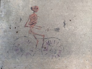 """Skeleton Cyclist""  Photo by Dave Iltis"