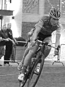 Cortlan Brown on his way to winning the Station Park Criterium on 7-10-2014. Photo by Dave Iltis