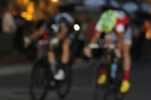 Brown and Hoffman at the line in the 2014 Station Park Crit. Sometimes the camera (or operator) malfunction. Photo by Dave Iltis