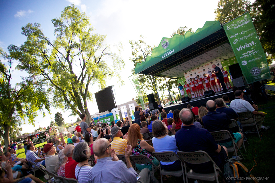 Team Presentation at the Main Street Park in Cedar City