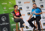 Nicky Waangsguard talks about Zappos.com Cedar City Grand Prix - a Pro Women's Criterium held in conjunction with Stage 1 pb Zions Bank - Larry H. Miller Tour of Utah. Photo by Cottonsoxphotography.com