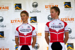 Utah's own Putt brothers (BDT Bissell Development Team) stand side by side on stage. Photo by Cottonsoxphotography.com