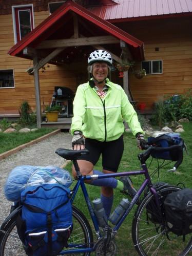 Cheryl Soshnik on the Selkirk Loop in June 2012. Photo courtesy Cheryl