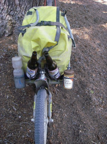 Peanut butter, water, and beer: the three essentials of bike