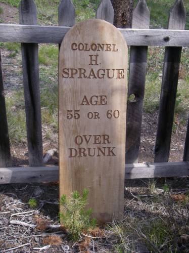 A Custer Cemetery headstone from late 1800's.