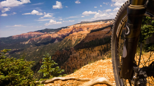 Stopping to take in the views of the Cedar Breaks National Monument from Blow Hard. Photo: Lukas