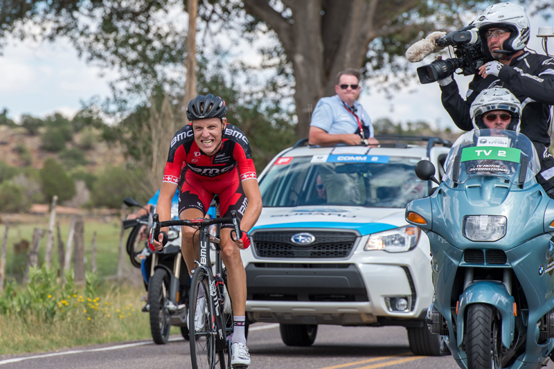 Utah's Jeff Louder (in blue) announced his retirement at this year's Tour of