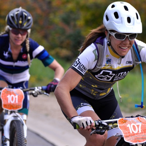 Meghan Sheridan was the top Utah racer in the women's field.