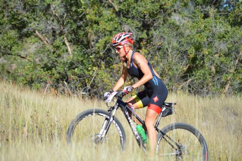 Utah triathlete Emma Garrard on the bike leg during the 2013 XTERRA National Championships in Snowbasin, Utah. Photo courtesy of XTERRA.