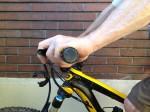 Mountain bike flexed wrist