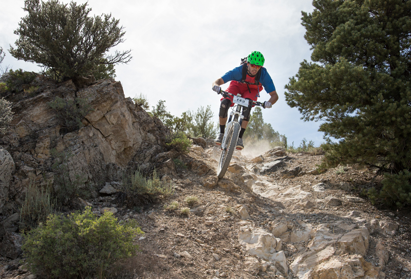 Logan Whitehead of Salt Lake City, fifth place finisher in the Fears, Tears and Beers enduro Pro