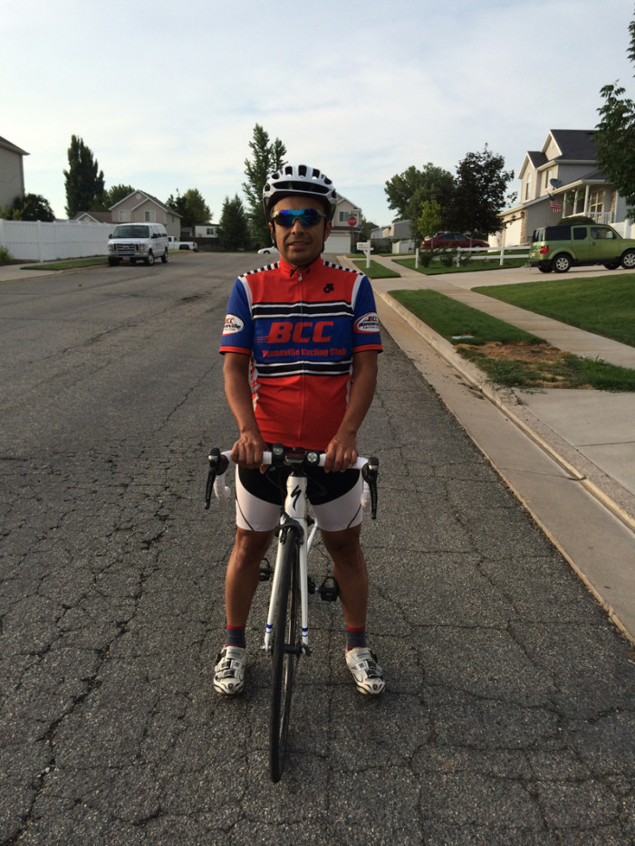 Daniel Bedoya is Bonneville Cycling Club's Commuter King