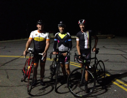 Seth Bradley (center) completed 8 laps of Little Cottonwood in honor of